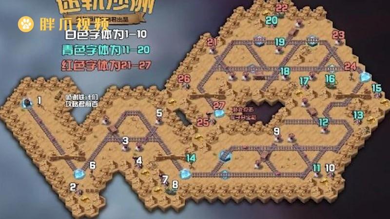 剑与远征迷轨沙洲路线(1)