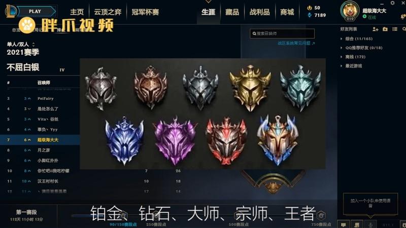 英雄联盟段位级别排列(1)