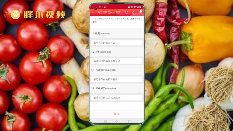 淘宝买菜怎么申请团长(4)
